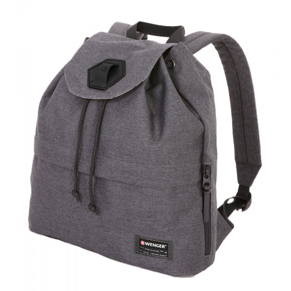 Рюкзак WENGER 13'', cерый, ткань Grey Heather/ полиэстер 600D PU , 33х13х39 см, 16 л, WENGER, 5332424403