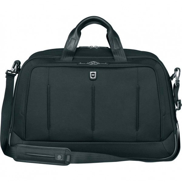 Портфель VICTORINOX VX One Business Duffel 15,6'', чёрная, нейлон 1000D/кожа, 54x20x34 см, 37 л, VICTORINOX, 600613