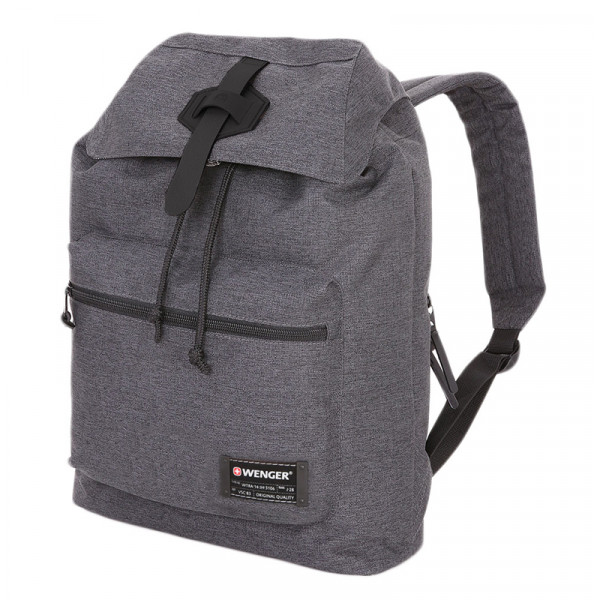Рюкзак WENGER 13'', cерый, ткань Grey Heather/ полиэстер 600D PU , 29х13х40 см, 15 л, WENGER, 5331424403